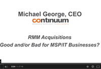 michael george, ceo continnuum
